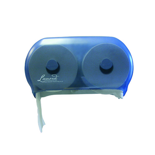 Leonardo Versatwin Toilet Roll Dispenser Blue DSTA06