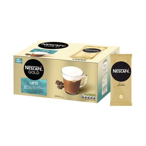 Nescafe Gold Latte Instant Coffee Sachets (Pack of 40) 12405013