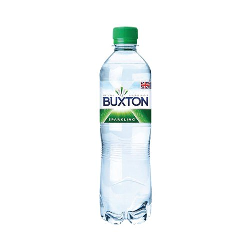 Buxton Natural Mineral Water 500ml Sparkling A01520 [Pack 24]