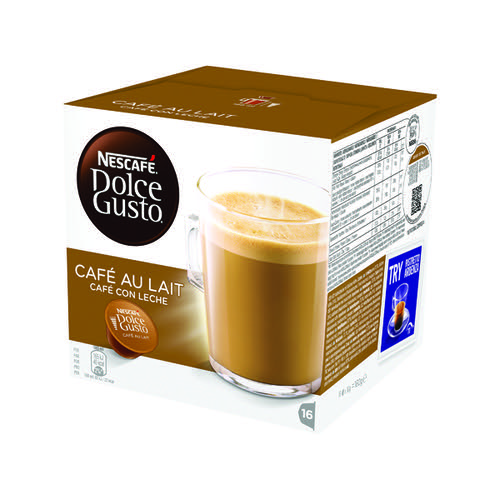 Nescafe Dolce Gusto Cafe au Lait Capsules (Pack of 48) 12235939