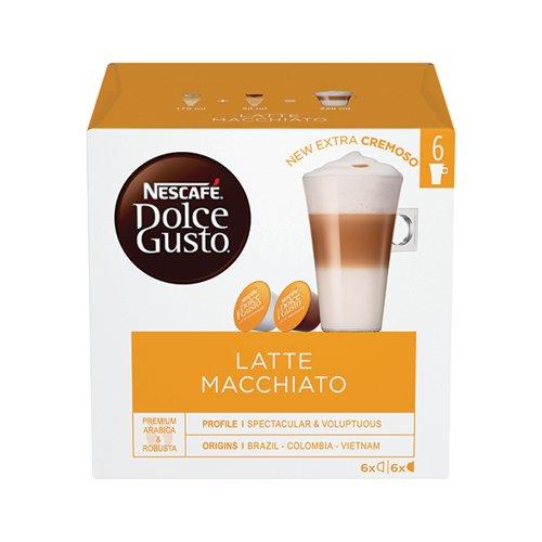 Nescafe Dolce Gusto Latte Macchiato Capsules (Pack of 48) 12416323