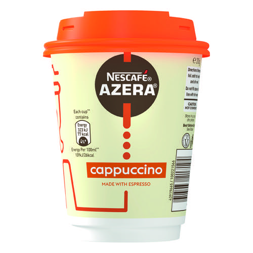 Nescafe & Go Azera Cappuccino Cups and Lids (Pack of 6) 12367616