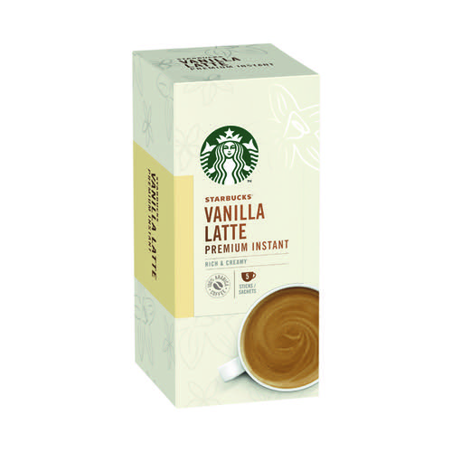 Starbucks Vanilla Latte Instant 107.5g 5 Sachets (Pack of 6) 12431778