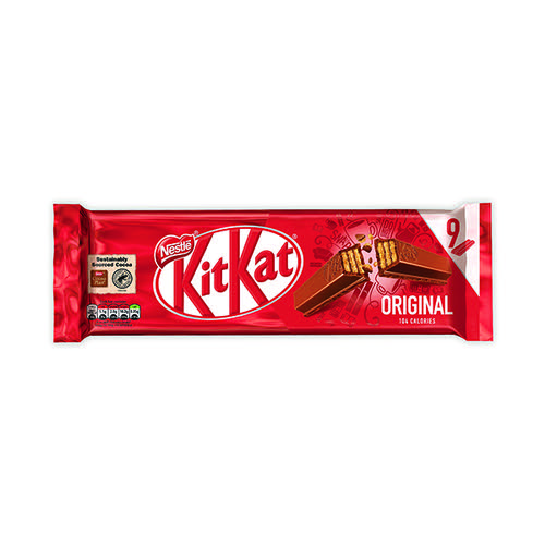 Nestle Milk Chocolate 2 Finger Kitkats (Pack of 9) 12339411