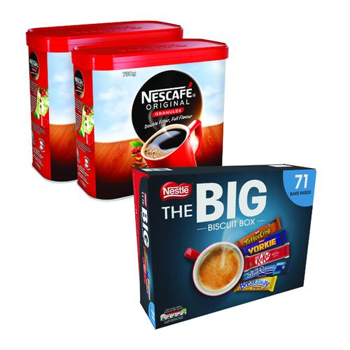 Nescafe Original Coffee 750g (Pack of 2) NL819848 FOC Nestle Biscuit Box 12391006