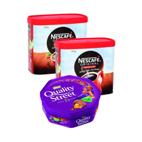 Nescafe Original 750g (Pack of 2) FOC Quality Street 650g