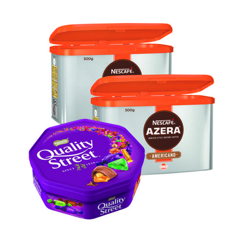 Nescafe Azera 500g (Pack of 2) FOC Quality Street 650g