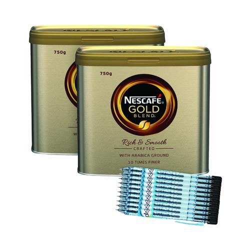 Nescafe Gold Blend 750g Buy 2 Get FOC Pilot Pens (Pack of 10)