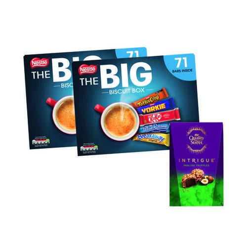 Nestle Big Biscuit Box Buy 2 Get FOC Quality Street Truffles 200g