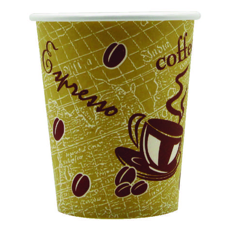 Single Wall Paper Cup 8oz Printed (Pack of 50) 8209936 NP77084