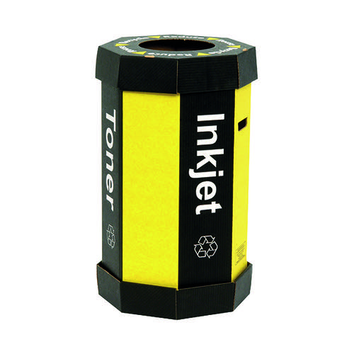 Acorn Black Cartridge /Yellow Recycling Bin 60 Litre (Pack of 5) 059783