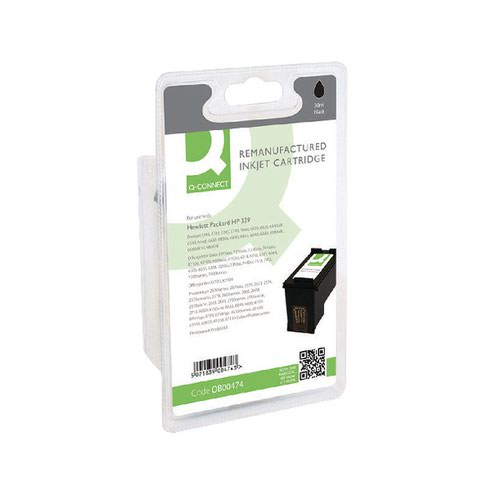 Q-Connect HP 339 Remanufactured Black Inkjet Cartridge High Yield C8767EE
