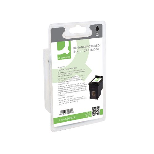 Q-Connect HP 338 Remanufactured Black Inkjet Cartridge C8765E