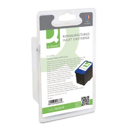 Q-Connect HP 22 Remanufactured Colour Inkjet Cartridge C9352AE