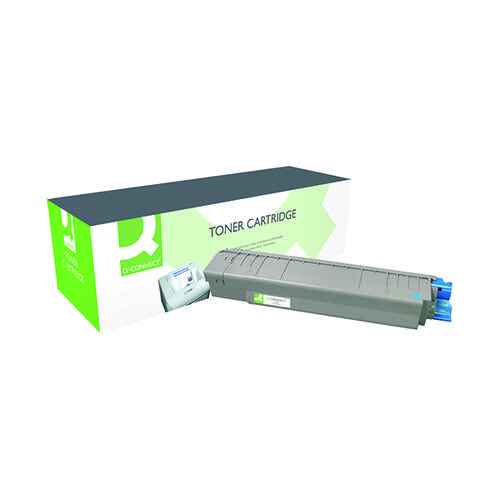 Q-Connect Remanufactured OKI MC861 Laser Toner Cartridge High Yield Cyan 44059255-COMP