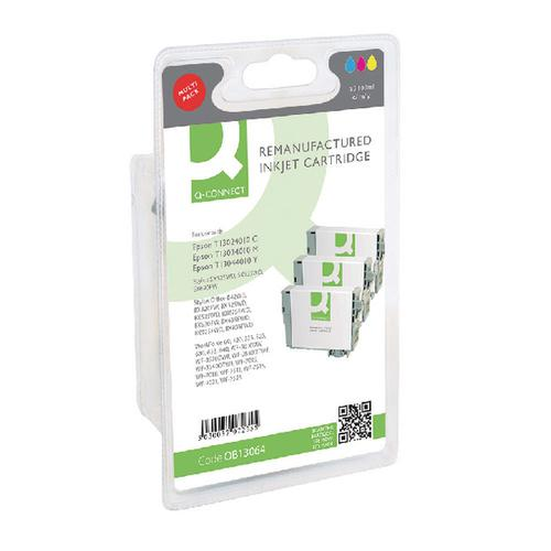 Q-Connect Epson T130640 XHY Ink Cartridge (Pack CMY (Pack of 3) T130640-COMP