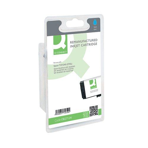 Q-Connect Epson 27XL Inkjet Cyan Cartridge C13T271240