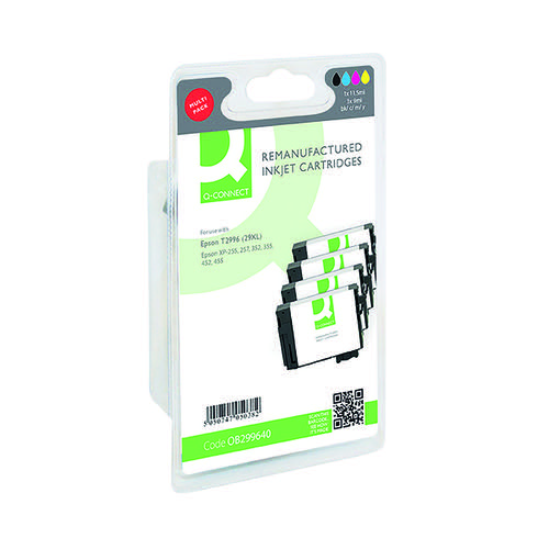 Q-Connect Epson 29XL Black and Tri-Colour Multipack Strawberry T299640-COMP Inkjet Cartridges OB299640