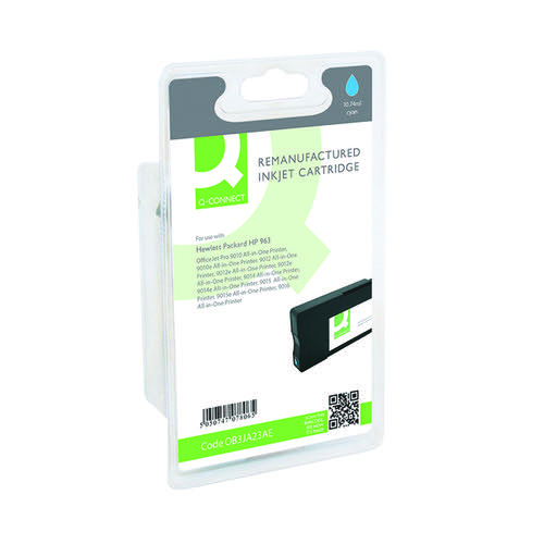 Q-Connect HP 963 Cyan Inkjet Cartridge 11ml 700 Pages 3JA23AE-COMP