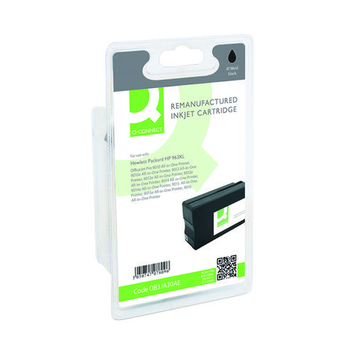 Q-Connect HP 963XL Black Inkjet Cartridge High Yield 52ml 2000 Pages 3JA30AE-COMP