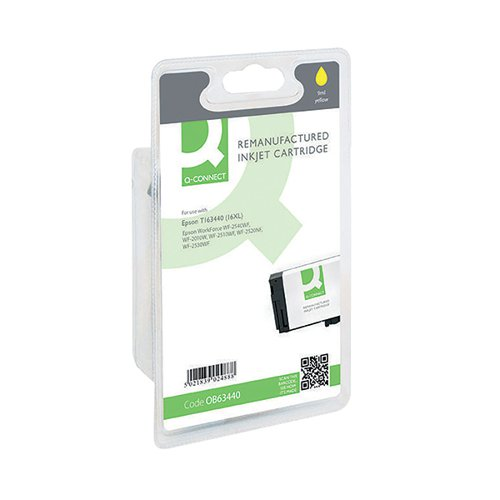 Q-Connect Epson 16XL Remanufactured Yellow Inkjet Cartridge High Yield C13T16344010 / T163440