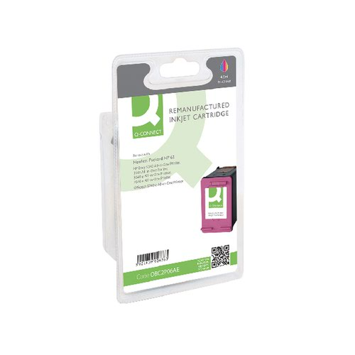 Q-Connect HP 62 Inkjet Cartridge 3 Colour (Capacity: 4.5ml) C2P06AE
