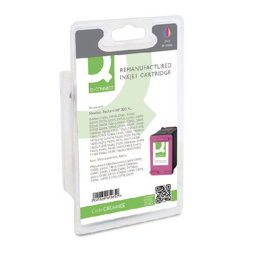 Q-Connect HP 300XL Remanufactured Colour Inkjet Cartridge High Yield CC644EEABB