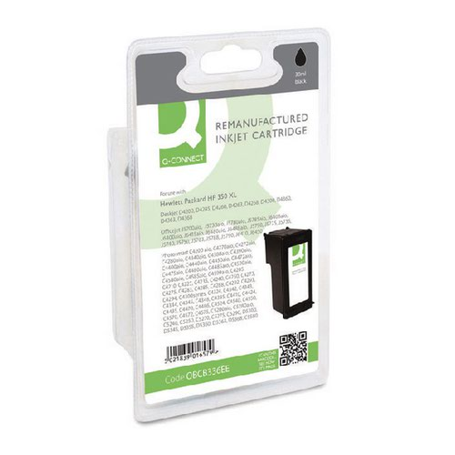 Q-Connect HP 350XL Remanufactured Black Inkjet Cartridge High Yield CB336EE