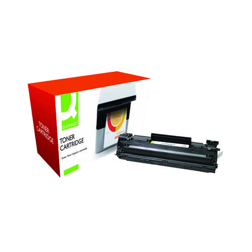 Q-Connect Compatible Solution HP 35A Black Laserjet Toner Cartridge CB435A