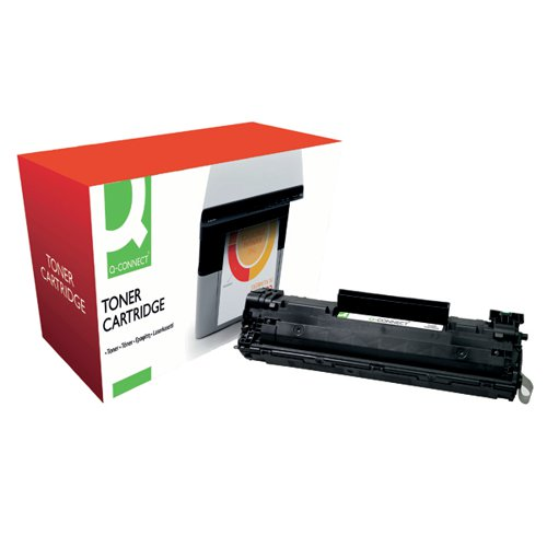 Q-Connect Compatible Solution HP 36A Black Laserjet Toner Cartridge CB436A