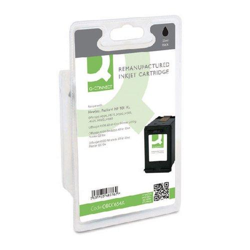 Q-Connect HP 901XL Remanufactured Black Inkjet Cartridge High Yield CC654AE