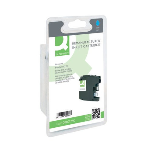 Q-Connect Brother Remanufactured Cyan Inkjet Cartridge LC123C