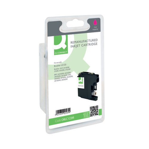 Q-Connect Brother Remanufactured Magenta Inkjet Cartridge LC123M