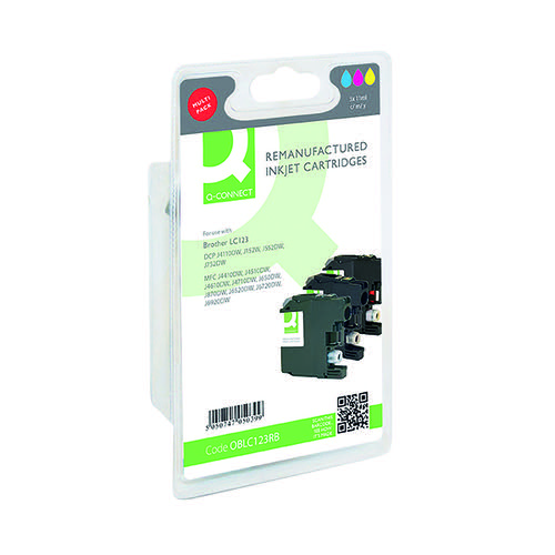 Q-Connect Brother LC123 Ink Cartridges Multi-Pack LC123RBWBP-COMP