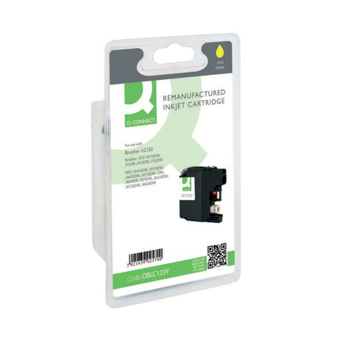 Q-Connect Brother Remanufactured Yellow Inkjet Cartridge LC123Y