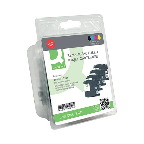 Q-Connect Brother LC223 Ink Cartridges Multi-Pack LC223VALBP-COMP