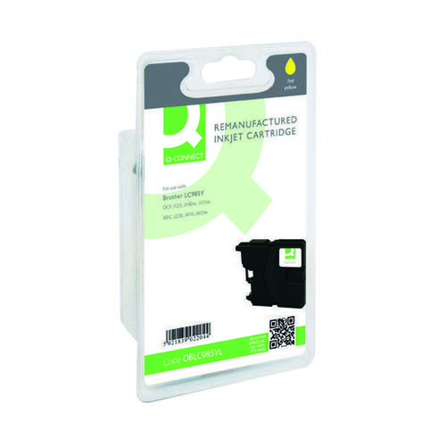 Q-Connect Brother Remanufactured Yellow Inkjet Cartridge LC985Y