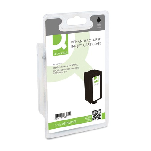 Q-Connect HP 903XL T6M15AE Ink Cartridge Black HY T6M15AE-COMP