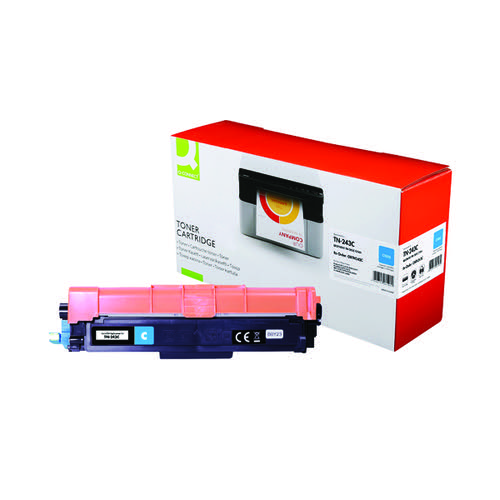 Q-Connect Brother TN-243C Toner Cartridge Cyan TN-243C-COMP