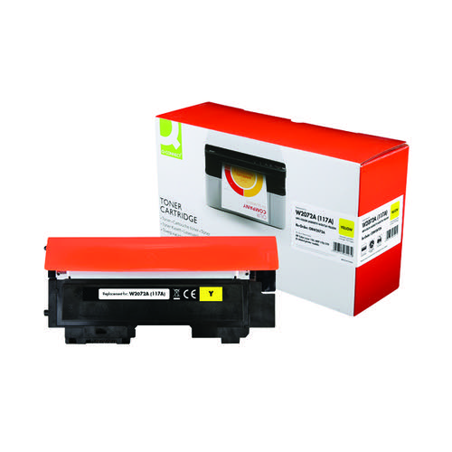 Q-Connect HP W2072A Toner Cartridge Yellow W2072A-COMP