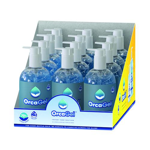 Orcagel Hand Sanitiser 500ml Pump 70% (Pack of 12) ORC035