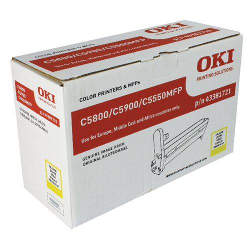 Oki C5800/C5900 Yellow Image Drum 43381721