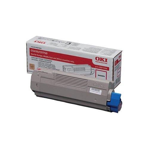 Oki Magenta Toner Cartridge (2000 Page Capacity) 43872306