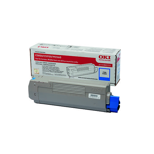 Oki Cyan Toner Cartridge (6 000 Page Capacity) 43865723