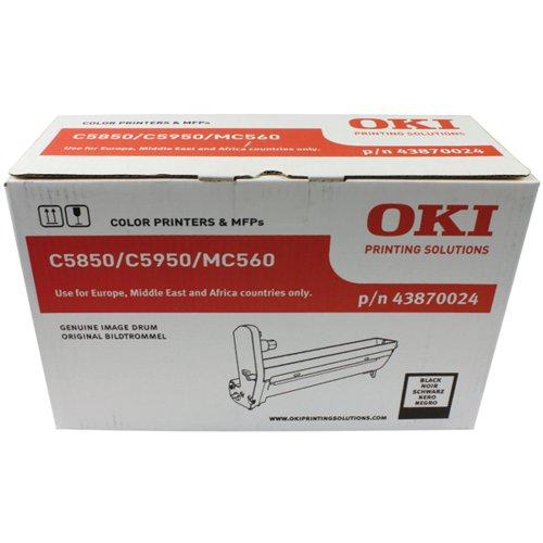 Oki C5850 Black Image Drum (20 000 Page Capacity) 43870024