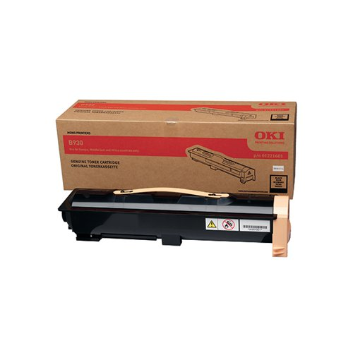 Oki B930 Laser Black Toner (For use with B930 Printers) 01221601