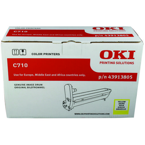 Oki C710 Yellow Image Drum (15 000 Page Capacity) 43913805