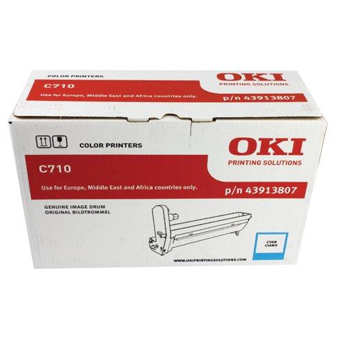 Oki C710 Cyan Image Drum (15000 Page Capacity) 43913807