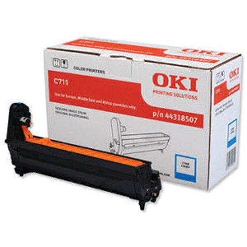 Oki C711 Cyan Image Drum 20K 44318507