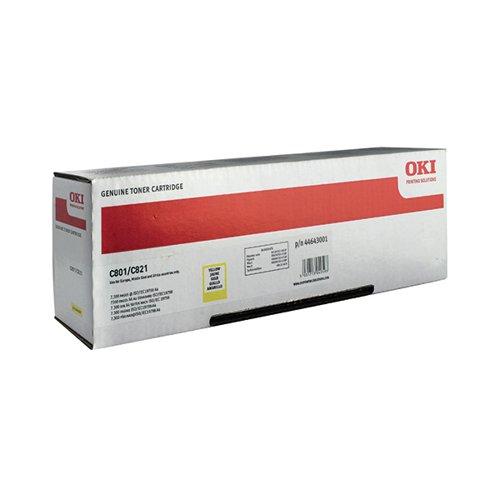 Oki Yellow Toner Cartridge (7 300 Page Capacity) 44643001